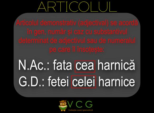 ARTICOLUL VCG1