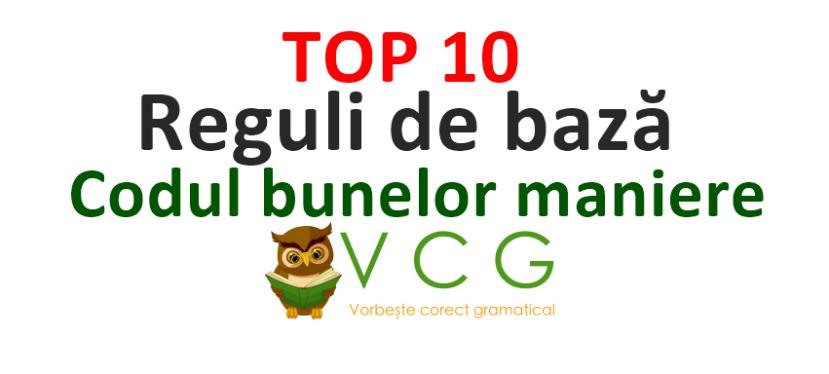 Top 10 – Reguli debază